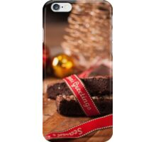 Christmas table with brownies iPhone Case/Skin