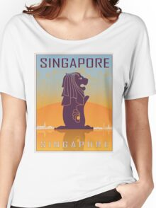 Singapore vintage poster Women's Relaxed Fit T-Shirt
