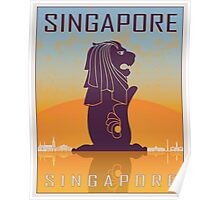 Singapore vintage poster Poster