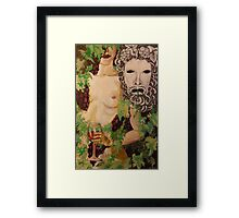 Figure and Mask no.4: Dionysus Framed Print