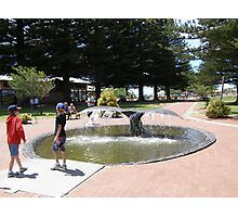 'A WHALE OF A TAIL!'  having fun at Victor Harbour. Photographic Print