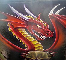 Dragon & Skull by Susan S. Kline