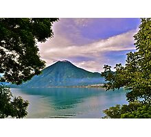 Volcano at Lago de Atitlán Photographic Print