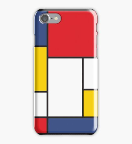 In the Style of Mondrian iPhone Case/Skin