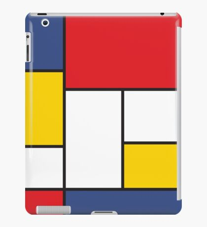 In the Style of Mondrian iPad Case/Skin