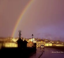 Rainbow over Bideford by Charmiene Maxwell-batten