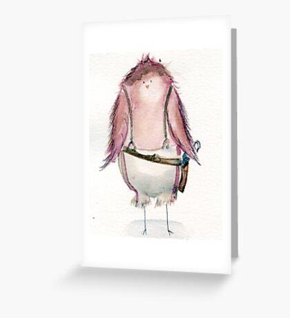Capt. Macaw Reynolds- Firefly Nerdy Birdy Greeting Card