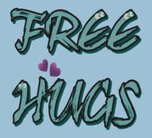FREE HUGS TXT One Piece - Short Sleeve