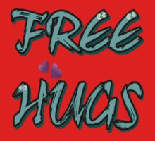 FREE HUGS TXT. Baby Tee
