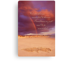 Connected To Heaven Canvas Print