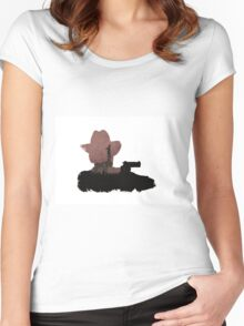 graphical walking dead tribute Women's Fitted Scoop T-Shirt