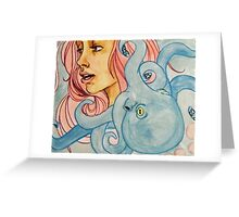 sarah and the octopus Greeting Card