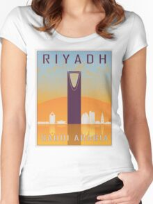 Riyadh vintage poster Women's Fitted Scoop T-Shirt