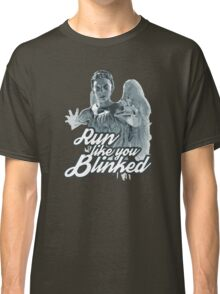 Weeping Angel Run Like You Blinked Doctor Who Classic T-Shirt