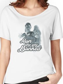 Weeping Angel Run Like You Blinked Doctor Who Women's Relaxed Fit T-Shirt