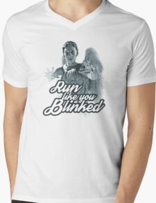 Weeping Angel Run Like You Blinked Doctor Who Mens V-Neck T-Shirt