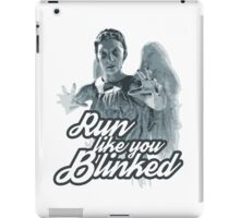 Weeping Angel Run Like You Blinked Doctor Who iPad Case/Skin