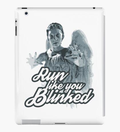 Weeping Angel Run Like You Blinked Doctor Who iPad Case/Skin