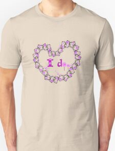 i do txt hearts lollipop candy graphic art T-Shirt