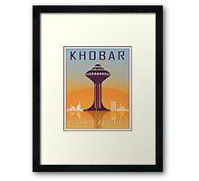 Khobar vintage poster Framed Print