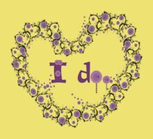 i do txt hearts lollipop candy graphic art Kids Clothes