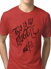 My muggle outfit Tri-blend T-Shirt