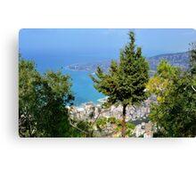 Lebanon's Blue Coast Canvas Print