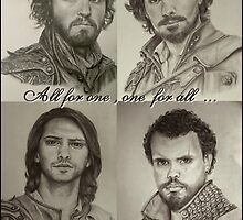 All for one...one for all! That is our motto! The Musketeers! by burketeer
