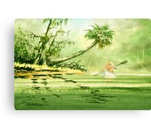 Canoeing The River Of Florida I Canvas Print