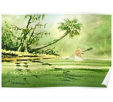 Canoeing The River Of Florida I Poster