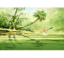Canoeing The River Of Florida I Photographic Print
