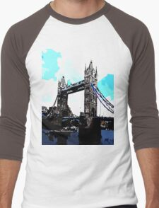 London Tower Bridge UK Men's Baseball ¾ T-Shirt