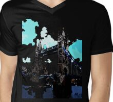 London Tower Bridge UK Mens V-Neck T-Shirt