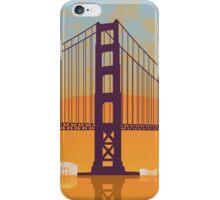 San Francisco vintage poster iPhone Case/Skin