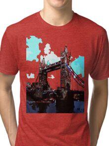 London Tower Bridge UK Tri-blend T-Shirt
