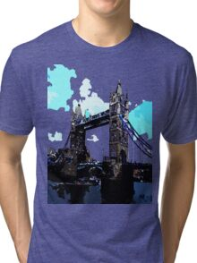 London Tower Bridge UK Tri-blend T-Shirt