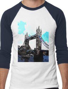 London Tower Bridge UK Men's Baseball ¾ T-Shirt