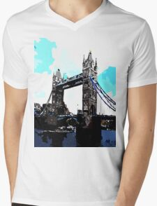 London Tower Bridge UK Mens V-Neck T-Shirt