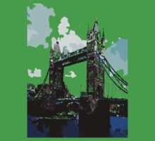 London Tower Bridge UK One Piece - Short Sleeve
