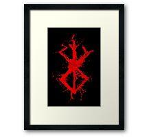 Berserk - Sacrifice - splatter version Framed Print