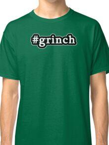 Grinch - Christmas - Hashtag - Black & White Classic T-Shirt