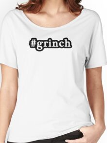 Grinch - Christmas - Hashtag - Black & White Women's Relaxed Fit T-Shirt