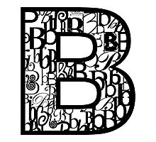 The Letter B, white background Photographic Print