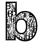 Small Letter B, white background by Julie Hartman