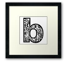 Small Letter B, white background Framed Print