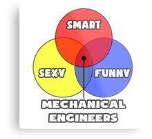 Venn Diagram - Mechanical Engineers Metal Print