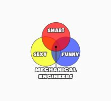 Venn Diagram - Mechanical Engineers Unisex T-Shirt