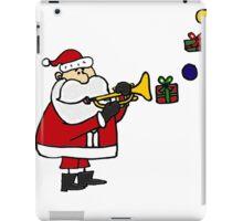Funny Christmas Santa Playing Trumpet iPad Case/Skin