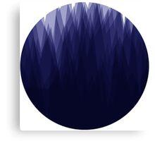 Shady Landscape (Blue) Canvas Print