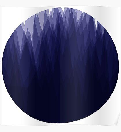 Shady Landscape (Blue) Poster